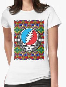 Grateful Dead Trippy Pattern Womens Fitted T-Shirt