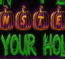 Halloween Security Scribbles Sticker