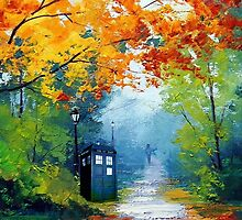 Tardis Oil Painting by alexasean