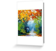 Tardis Oil Painting Greeting Card