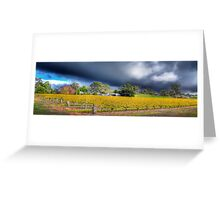 Barossa valley Storm Front Panorama Greeting Card