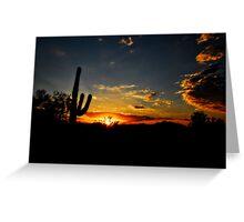 An Arizona Sunrise  Greeting Card