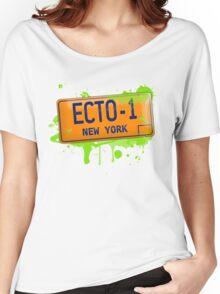 Ghostbusters ecto-1 license plate Women's Relaxed Fit T-Shirt