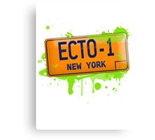 Ghostbusters ecto-1 license plate Canvas Print