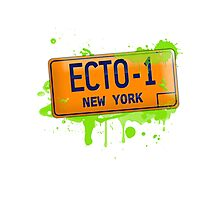 Ghostbusters ecto-1 license plate Photographic Print