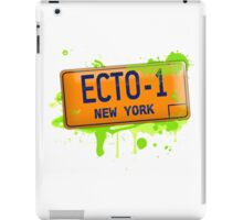 Ghostbusters ecto-1 license plate iPad Case/Skin