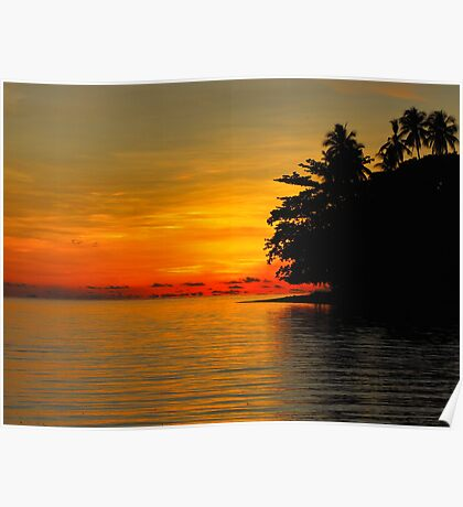 Sunset On Ataliklikun Bay PNG Poster