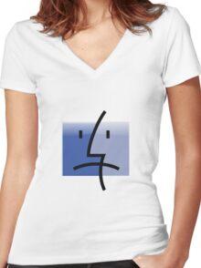 finder is sad Women's Fitted V-Neck T-Shirt