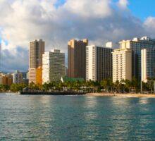 Waikiki Beach, Honolulu OAHU Sticker