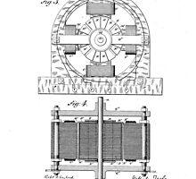 Nikola Tesla Electro-Magnetic Motor No. 382,279 Part 2 by jamessasek