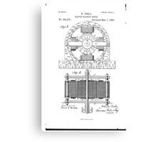Nikola Tesla Electro-Magnetic Motor No. 382,279 Part 2 Canvas Print