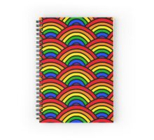 Rainbow Scallop Spiral Notebook