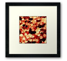 Orange Flower Patch Framed Print
