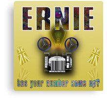 Ernie and the Premium Bonds Canvas Print