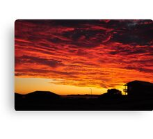 Wednesday Fire Canvas Print
