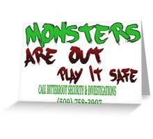 Halloween Security Paint Greeting Card