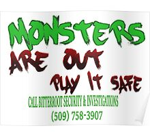Halloween Security Paint Poster