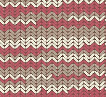Pink Knitted Knitting Printed Design - For a Craft Lover Maroon by Illuzstrated
