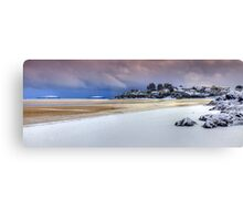 Abersoch Harbour beach in winter Canvas Print