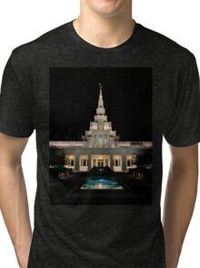 Phoenix LDS Temple Night Tri-blend T-Shirt