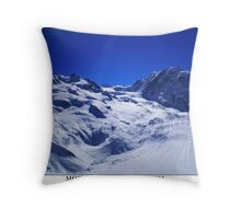 monte rosa & lyskamm Throw Pillow