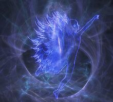 An Electric Fairy Fantasy in Blue by Carol and Mike Werner