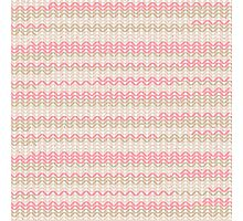 Pink Knitted Knitting Printed Design - For a Craft Lover Photographic Print