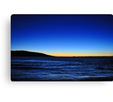 Earth,sun and the planets Canvas Print
