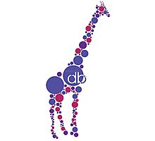 Branded Violet Bubble Giraffe Photographic Print