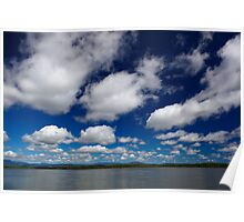 Blue Cloudy Sky Poster