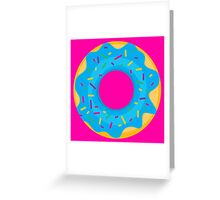 Donut with Blue Icing and Rainbow Sprinkles Greeting Card
