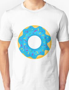 Donut with Blue Icing and Rainbow Sprinkles T-Shirt