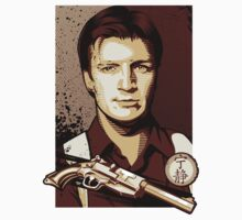 Malcolm Reynolds from Firefly in Shepard Fairey Obama Poster Style by jimiyo