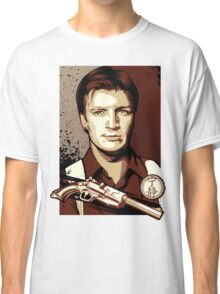 Malcolm Reynolds from Firefly in Shepard Fairey Obama Poster Style Classic T-Shirt