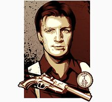Malcolm Reynolds from Firefly in Shepard Fairey Obama Poster Style Unisex T-Shirt