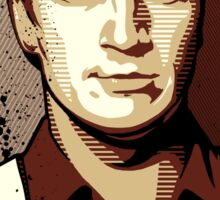 Malcolm Reynolds from Firefly in Shepard Fairey Obama Poster Style Sticker