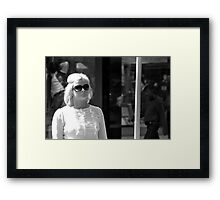 Hepburn shades Framed Print