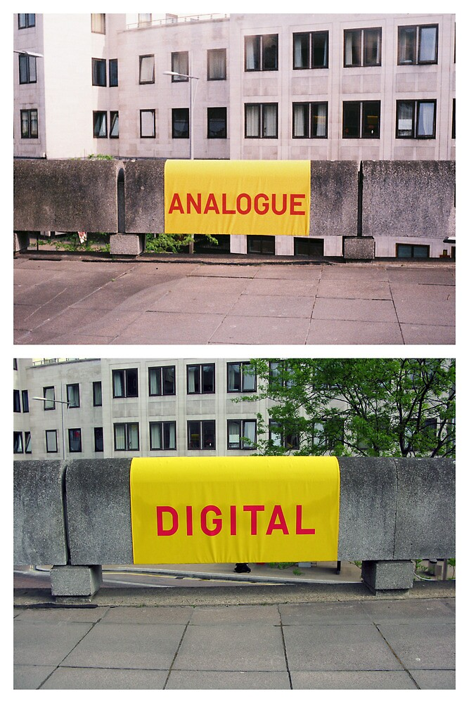 Analogue versus digital at Southbank Centre by Holly Burns