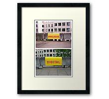 Analogue versus digital at Southbank Centre Framed Print