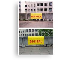 Analogue versus digital at Southbank Centre Canvas Print
