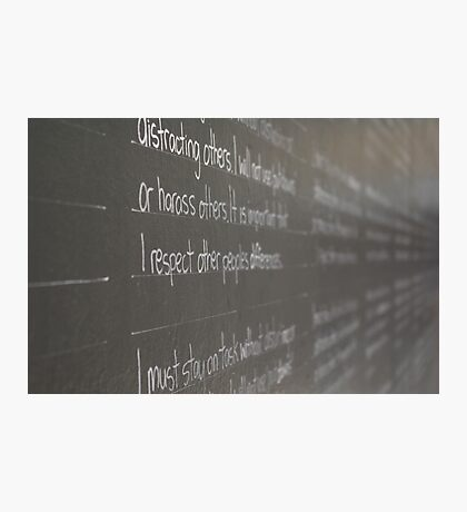 The writing's on the wall Photographic Print