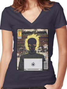 Ghost Writer Issue #1 Women's Fitted V-Neck T-Shirt