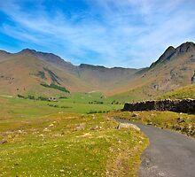 Mickleden Valley Road by Trevor Kersley