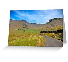 Mickleden Valley Road Greeting Card