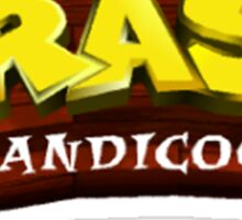 Crash Bandicoot logo Sticker