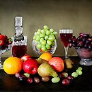 Fruit and Wine .  by Irene  Burdell