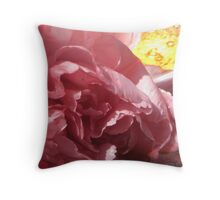pink mum with flame background Throw Pillow