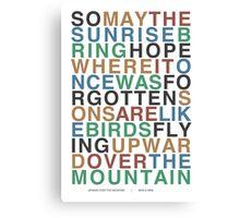 Upward Over the Mountain - Iron & Wine Canvas Print