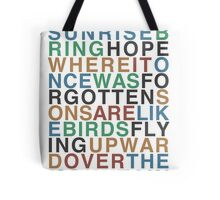 Upward Over the Mountain - Iron & Wine Tote Bag