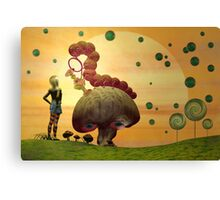 Alice and the Caterpillar Canvas Print